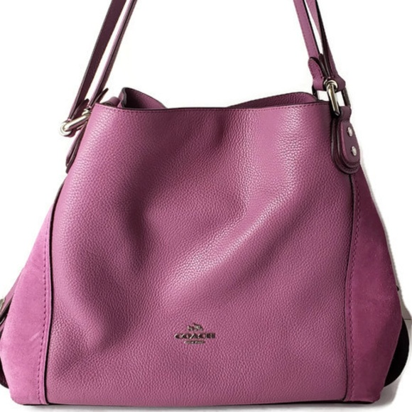 Coach Handbags - COACH Edie 31 Pebbled Primrose Leather Bag PWA87 7ed9c0bb77aa6